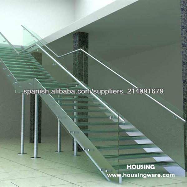 Acero inoxidable vidrio templado escalera escaleras - Escaleras de cristal templado ...