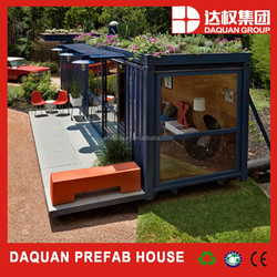 Wuhan daquan brand China 20ft luxury prefab shipping container homes for sale prices with low cost