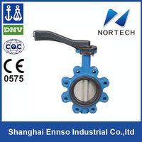 High Quality Double Flange Concentric hand wheel wafer schrader valve