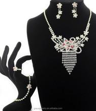 Eternal Elegant Imitation Bridal Wedding Jewelry Sets In Rhinestone
