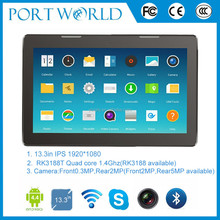 13.3inch RK3188 quad core IPS1920*800 dual camera tablet wifi 3g 5MP