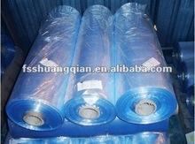 Transparent blue heat shrinkable pvc door package film 2012