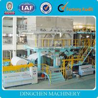 2880mm waste paper, high grade deinking, hardwood pulp high speed toilet tissue paper jumboo roll making machinery, 7-8 T/D