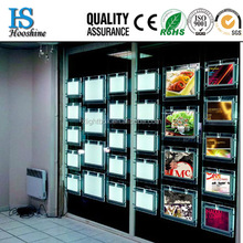 2015 New A3 or A4 Hanging Double Sides Acrlic Light Box LED Window Display For Real Estated LED Acrylic LED Light Box Display