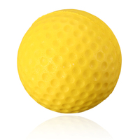 Excellent quality Soft Indoor Outdoor Training Practice Golf Sports Elastic PU yellow Foam Ball beginner Training Aid