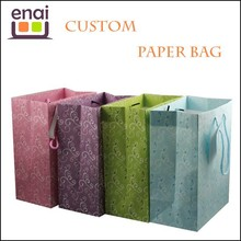 Many colors customized daisos size paper bag for gift shopping