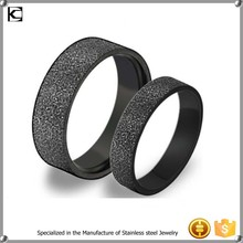 Black Brushed/Matte 316 l Stainless Steel Titanium Wedding Band Anniversary/Engagement/Promise/Couple Ring Best Gift