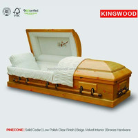 CEDARLAND wood coffin handle box China Products