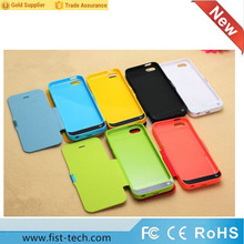 4200mah external battery charger case for iphone 5 5/5S/5C battery power bank case with Flip Leather Cover