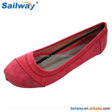 Ladies comfortable flat sole shoes upper color can change