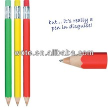 2014 new design smart and colorful pencil style wooden pen for promotion and for student