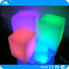 16 colors change LED cube in garden lights / plastic outdoor LED light bar cube table