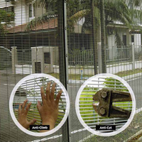 hot sales heavy duty 358 high security fence prison fences for Military Sites/358 fence panel