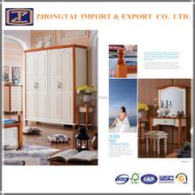 Alibaba Bedroom Furniture Prices 4-door wardrobe with cheap price
