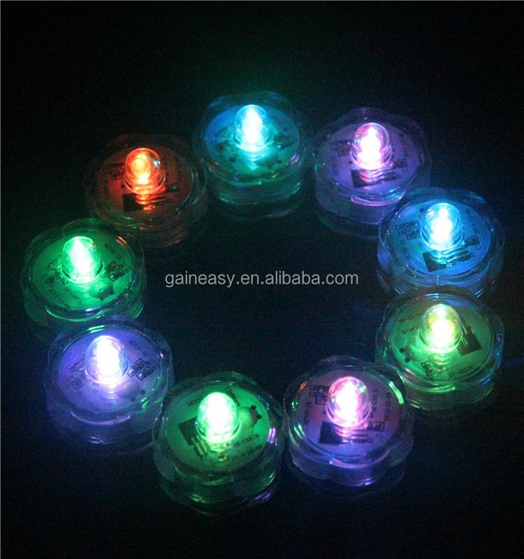주도 캔들 티 라이트 floralyte 잠수 방수 다색 불꽃없는, LED ...