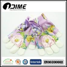 2015 New product flower printing fingerless glove set for women