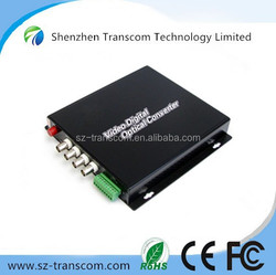 4 channel and 1 return data video converter / analog digital video converter / rj45 to bnc video converter