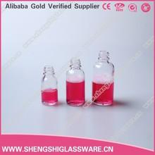 transparent essential oil glass bottle with Glue dropper head