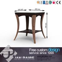 Modern black high gloss wooden leg glass top coffee table