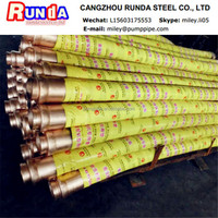 """high request 4"""" concrete pump rubber hose for Greaves"""