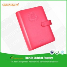 Wholesale School stationery 6 ring clip PU leather school notebook /diary notebook with high quality/diary note book