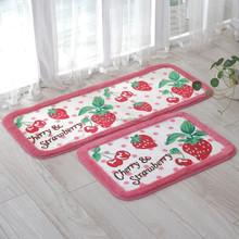 acrylic fibers strawberry printing bedroom area rugs bedside mat