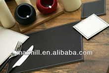 Brand new Noble leather placemats/table placemat with Rohs SGS