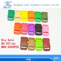 "October big sale colorful contoured plastic curved buckle,3/8"" plastic buckle,plastic buckle wholesale"