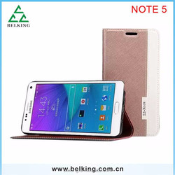 Cross pattern Hybrid leather case for Samsung Galaxy Note 5, new product for Samsung Galaxy Note 5