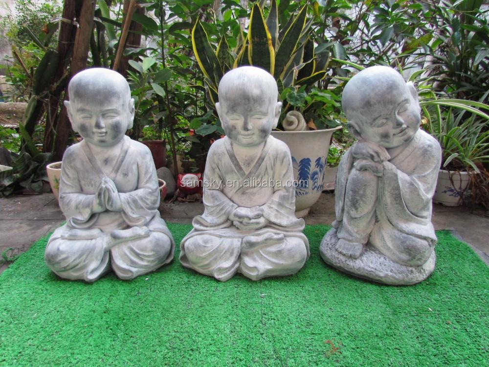 Bouddha deco jardin bouddha d coration pour bassins de - Tete de bouddha en pierre pour jardin ...