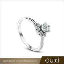 OUXI 2015 Hot Sale fashion design wedding couple ring