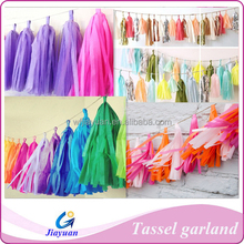 DIY Tissue Paper Tassel Garland for Hen Party
