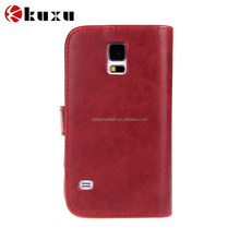 Top Quality Leather Wallet Flip Phone Case Covers For Samsung Galaxy S4 i9500 Cover phone bags cases 10 Colors