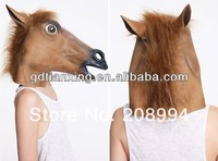 Theme Horse Mask Head Halloween Costume Theater Prop Novelty Latex Rubber