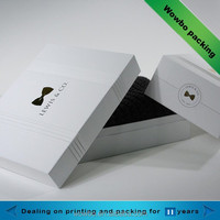 high quality white cardboard paper thick gift packing box with lid