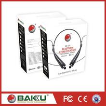 2015 fashion Neckband Bluetooth4.0 Wireless External Speaker BK-830 Bluetooth Headset
