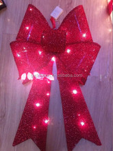 Colorful Printed Decorative Gift Bows,PET PVC Star Ribbon Bow/Good quality lighted pvc butterfly bow