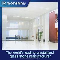 white gloss nano crystal glass floor tile large size 1200*1200mm