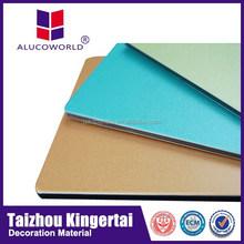 Alucoworld Offering Quality aluminum cladding Plastics Aluminum Composite internal wall cladding internal cork walls panels