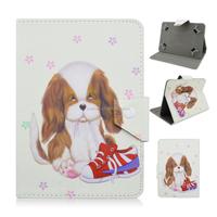 Cute Pet Dog PU Leather Stand Flip Folio Cover Case For iPad Mini Tablet PC