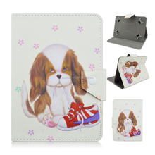 Cute Pet Dog PU Leather Stand Flip Folio Cover Case For iPad Mini Tablet PC