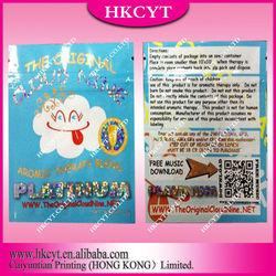 Cloud nine well-designed glittering herbal incense bag