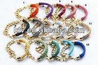 Yiwu landy jewelry factory USA fashion silk rope mint bracelet