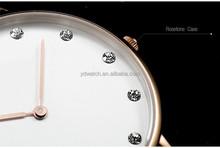 Diamond Classic Strap Luxury Vogue Watch Quartz Stainless Steel Case Miyota Movt Genuine Leather Watch