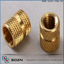brass insert nut for plastics/insert nut knurled