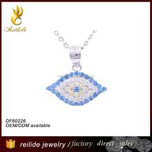 2015 wholesale fashion jewelry 925 sterling silver evil eye jewelry pendant pendant for women