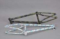 Chromoly4130 Butted camo flange frame used bmx bike parts