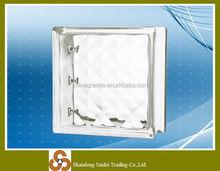 decorative diamond wall glass block