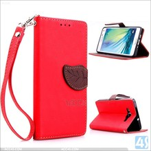 Hot selling modern leaves design for samsung a3 leather case with ID card slots and various colors supply