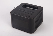 Charging dock for iPod/iphone speaker, multi-function bluetooth speaker FM/TF card/ alarm clock